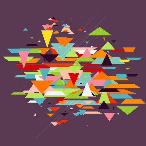 Retro abstracte achtergrond vector