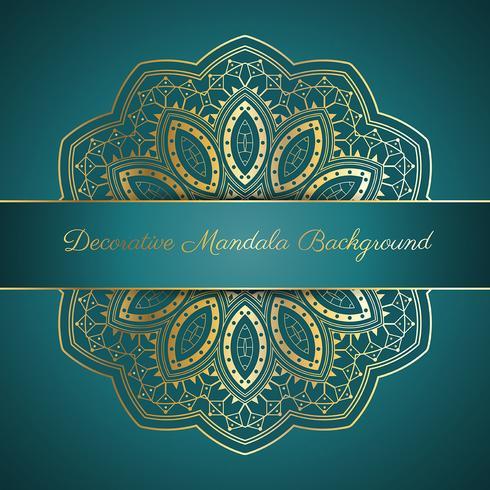 Decoratieve mandala achtergrond vector