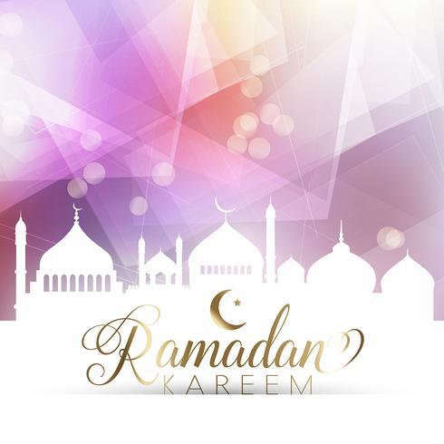 Laag poly Ramadan-poster vector