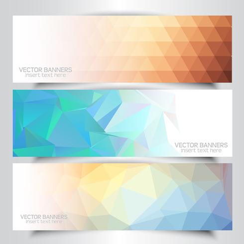 Lage poly-banners vector