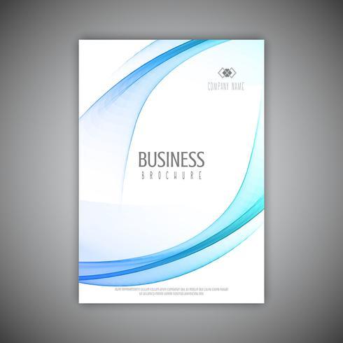Zakelijke brochure sjabloon met vloeiende lijnen ontwerp vector