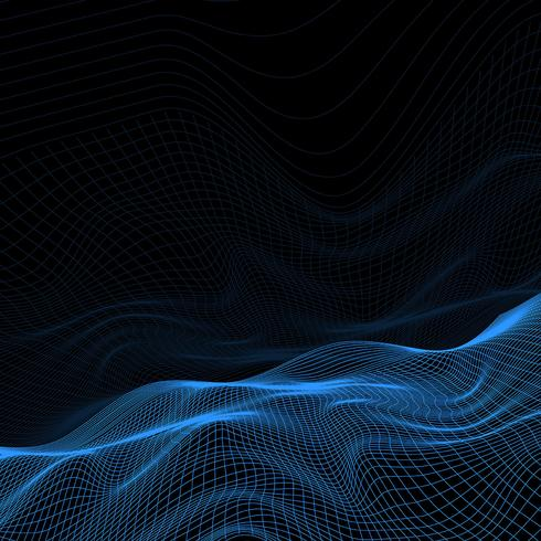 Abstract wireframe landschap vector