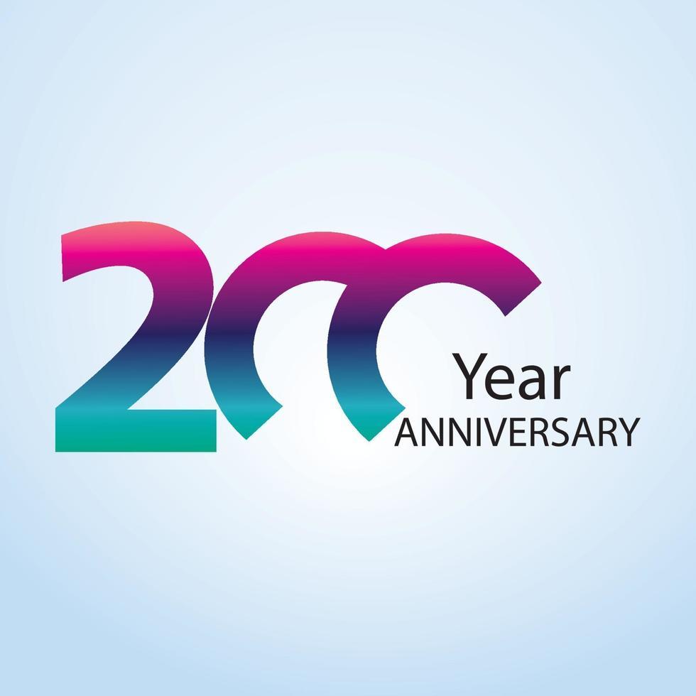 jaar jubileum logo vector sjabloon ontwerp illustratie
