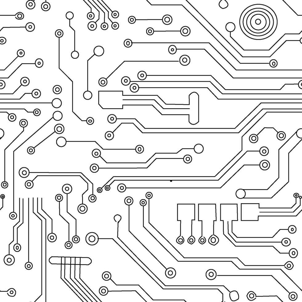 abstracte futuristische printplaat vectorillustratie patroon vector