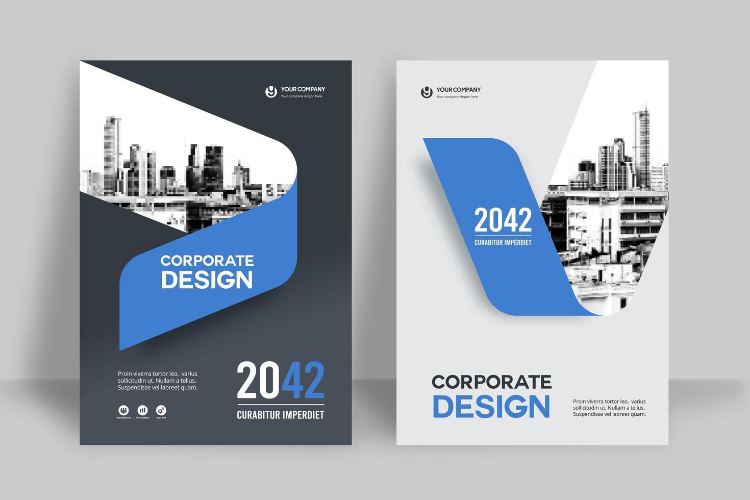 stad achtergrond zakelijke boekomslag ontwerpsjabloon vector