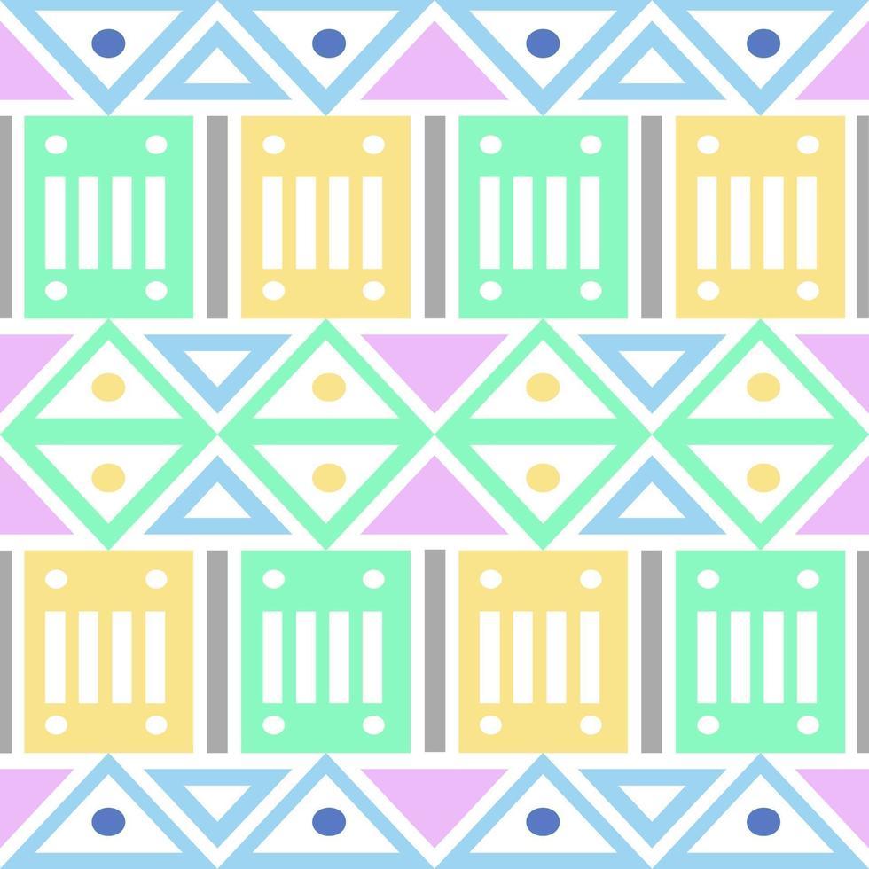 naadloze veelkleurige inheemse patroonachtergrond met geometrische vorm vector