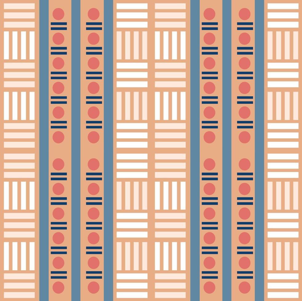 print naadloze veelkleurige inheemse patroonachtergrond met geometrische vorm vector