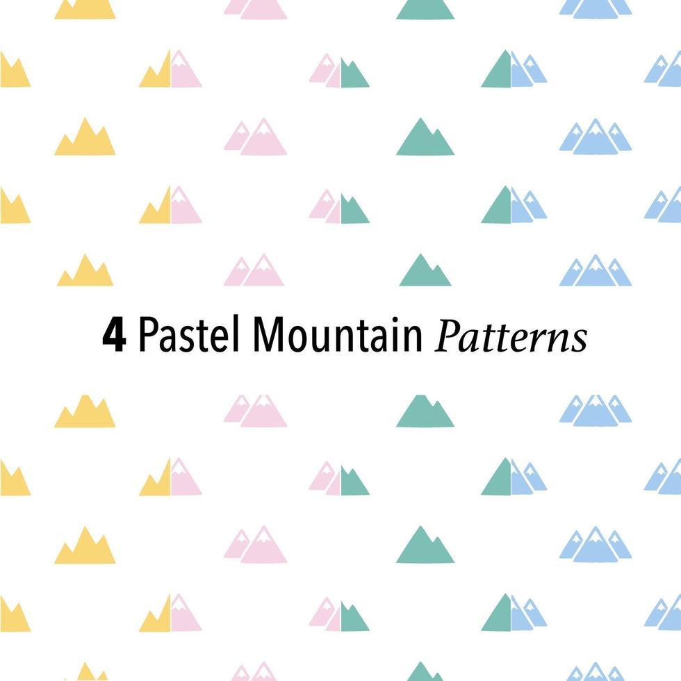 4 pastel bergpatronen vector
