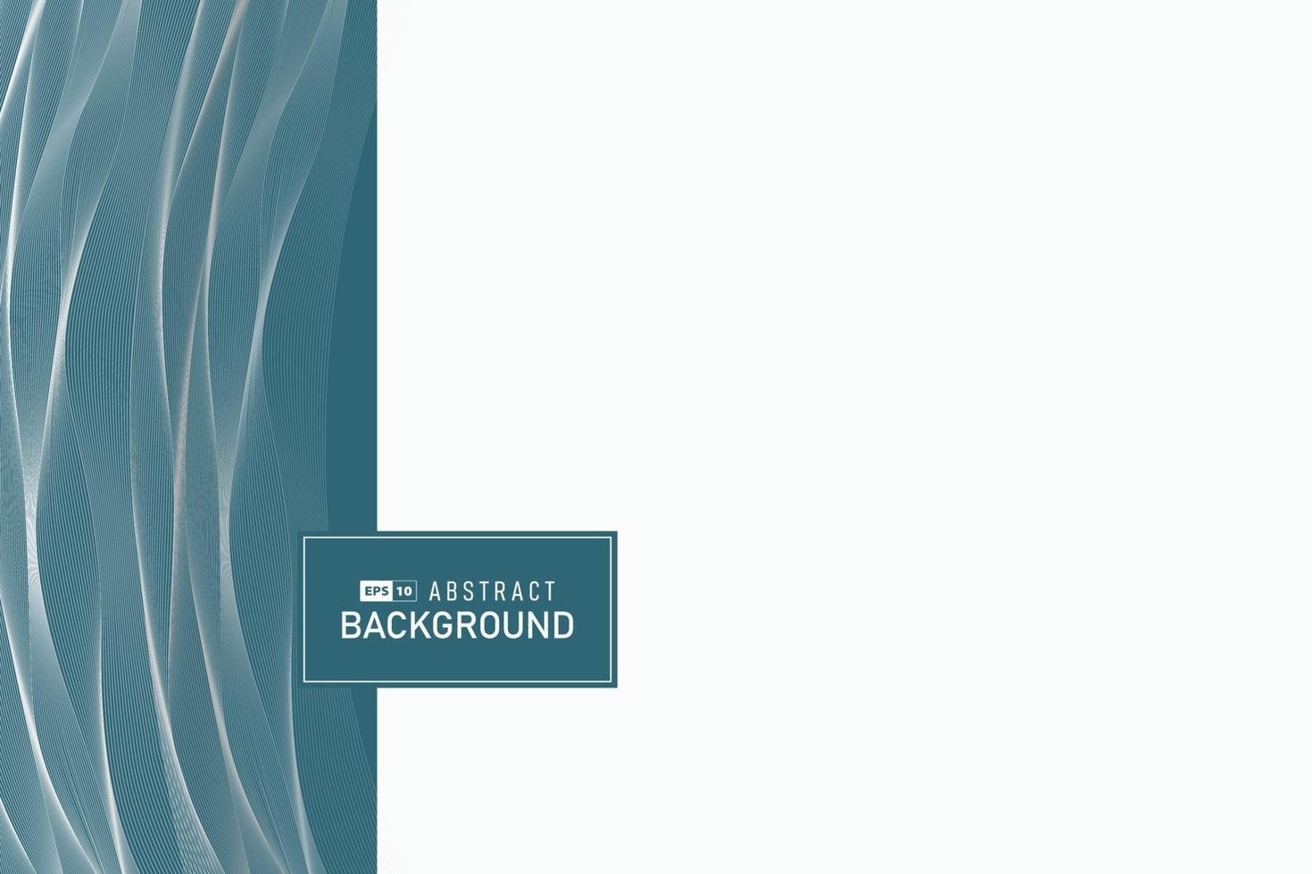 abstract bedrijfsmalplaatje van minimaal blauw ontwerp met witte golvende decoratieve patroonachtergrond. illustratie vector