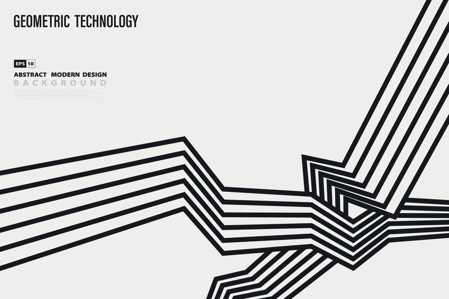 abstracte zwart-wit patroon lijn ontwerp beweging decoratie achtergrond. illustratie vector