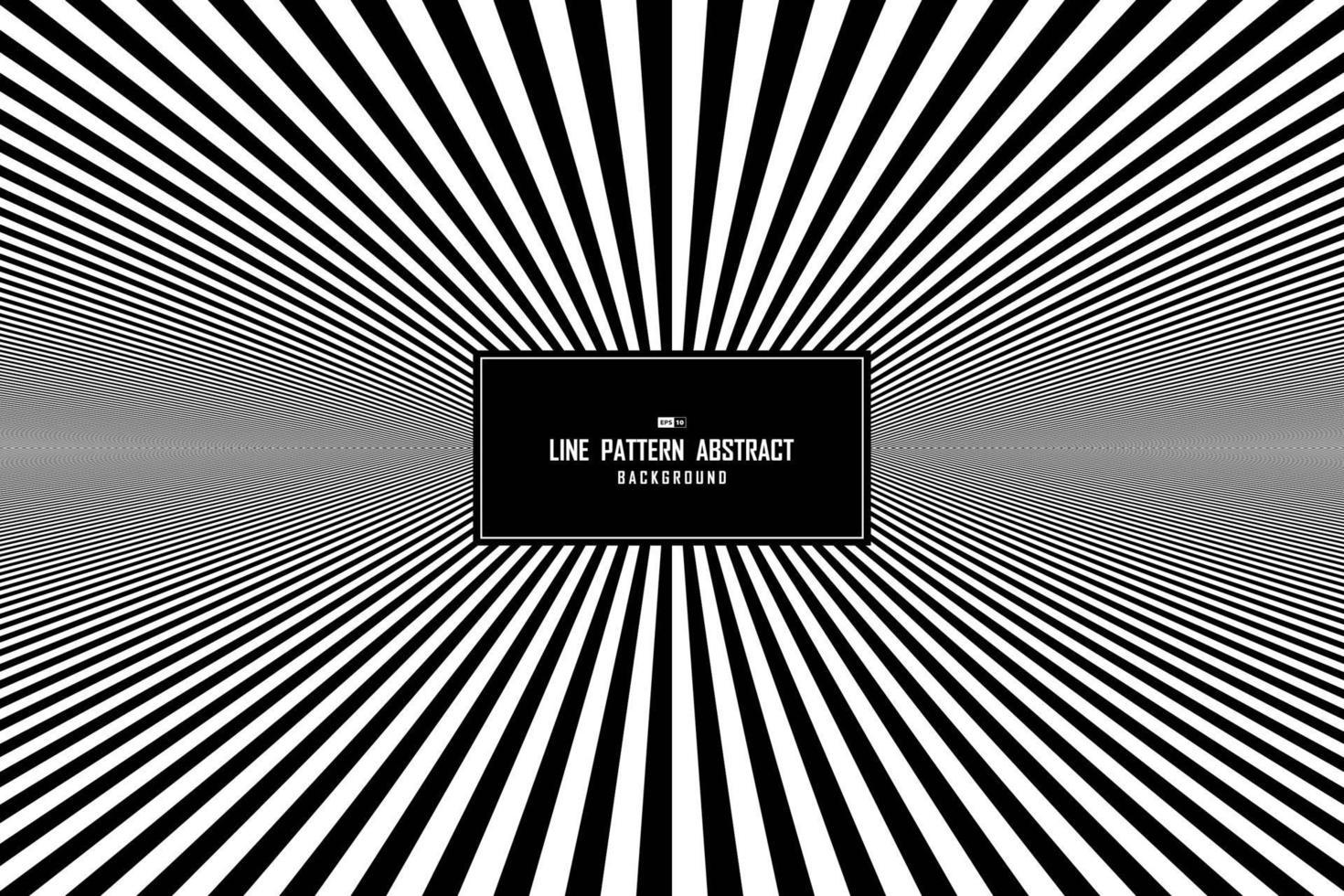 abstract lijn zwart-wit minimaal patroon op de achtergrond van de centrumpresentatie. illustratie vector