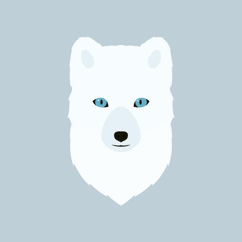 portret van de poolvos. vectorillustratie van een wild dier. vector