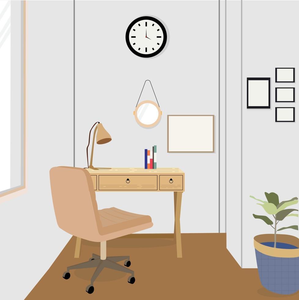 vector kantoorruimte, perfect voor ontwerpproject