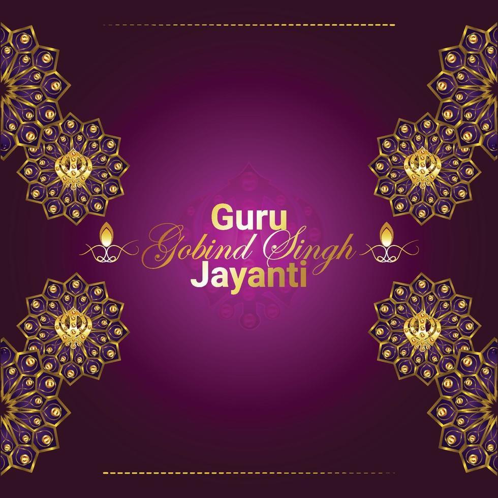 goeroe gobind singh jayanti viering achtergrond vector