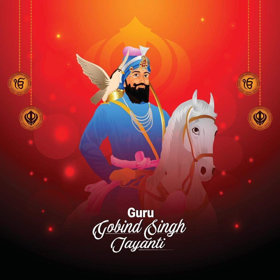 guru gobind singh jayanti viering sjabloon vector