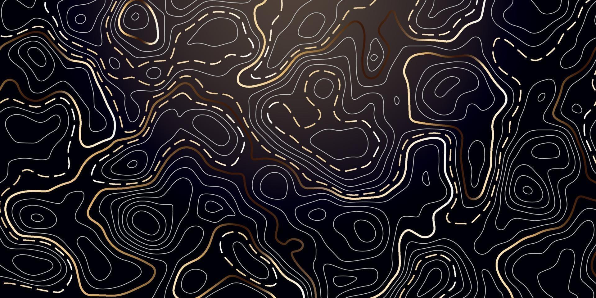 abstracte achtergrond met gouden topografische contour. vector