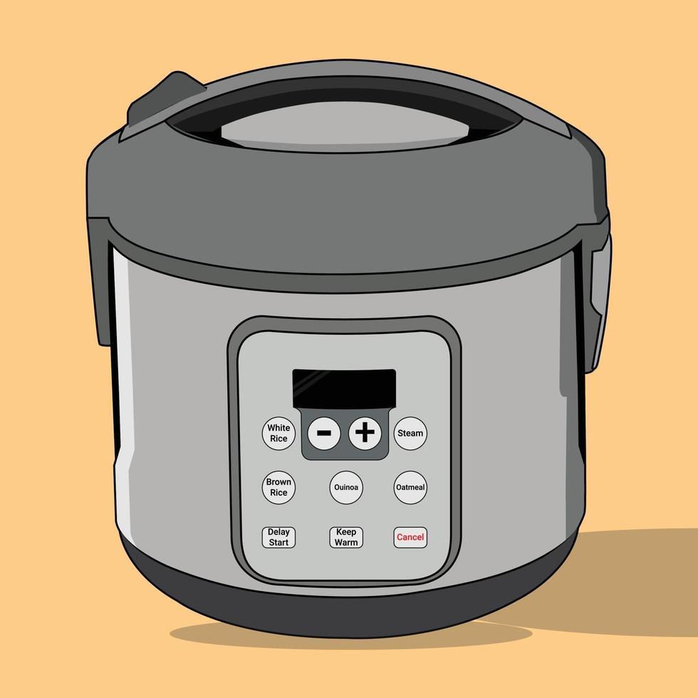 vector van rijstkoker, perfect voor ontwerpproject