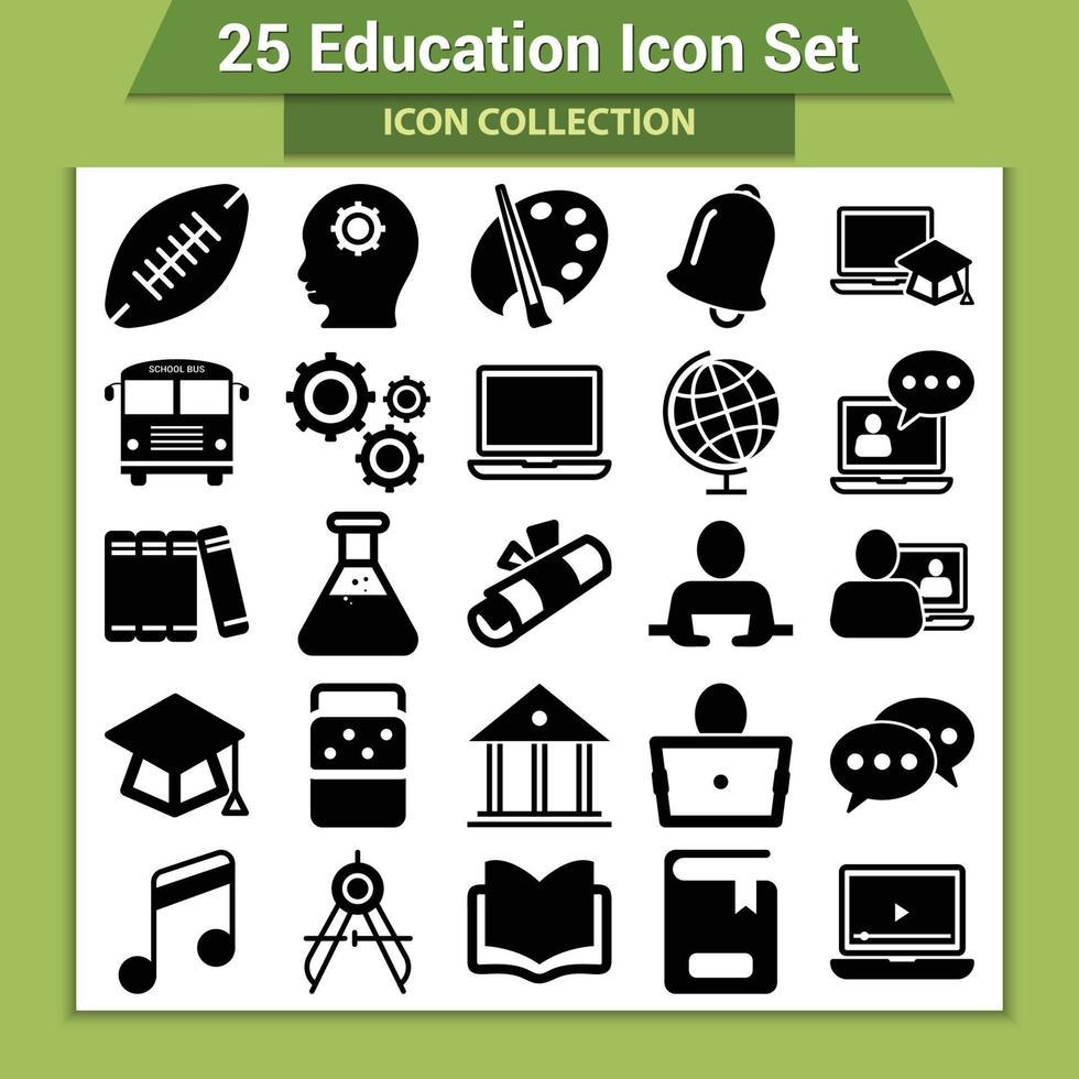 onderwijs icon set vector