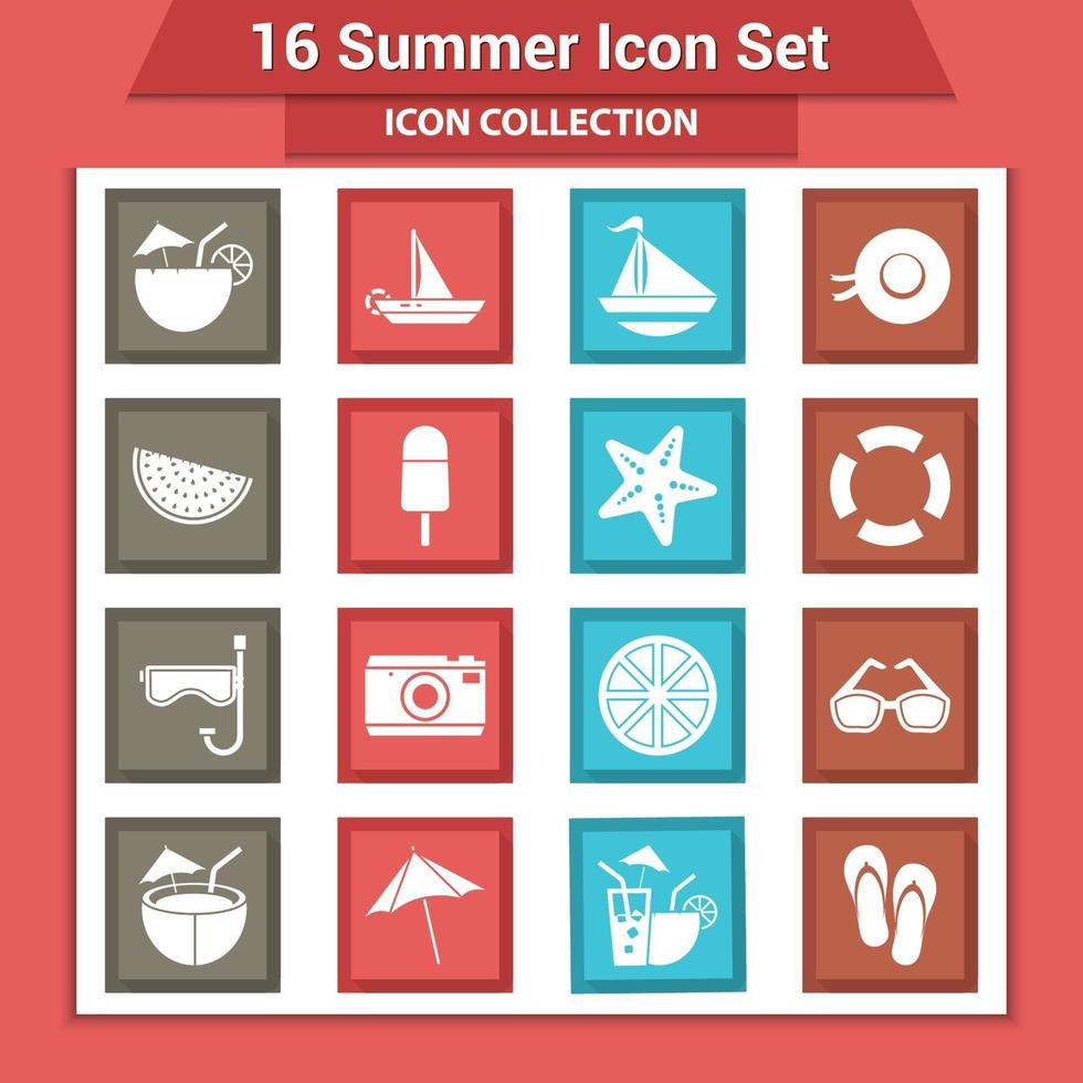 zomer pictogramserie vector