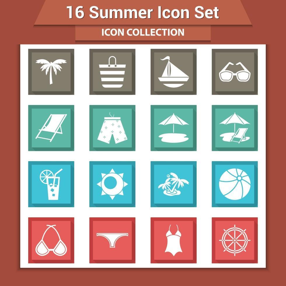 zomer strand items collectie vector