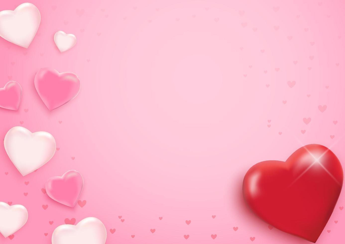 Valentijnsdag achtergrond met hartjes. vector illustratie. behang, flyers, uitnodiging, posters, brochure, banners.