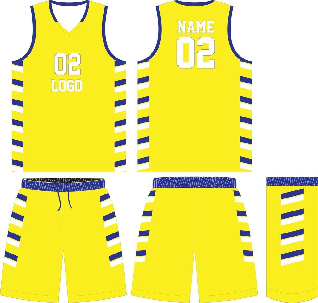 basketbal t-shirt ontwerpset kit vector