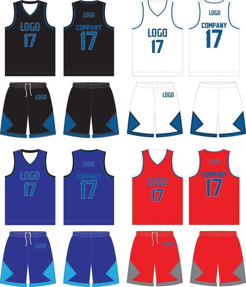 omkeerbare basketbal uniform jersey short vector