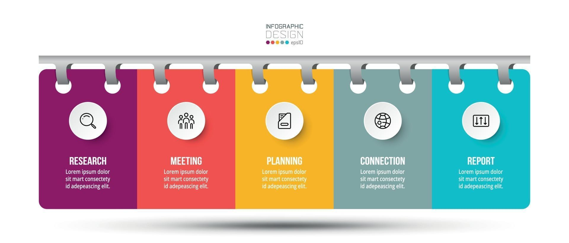 presenteer en rapporteer studieresultaten of data-analyse. kan worden toegepast op zaken, medisch, onderwijs, bedrijven. vector