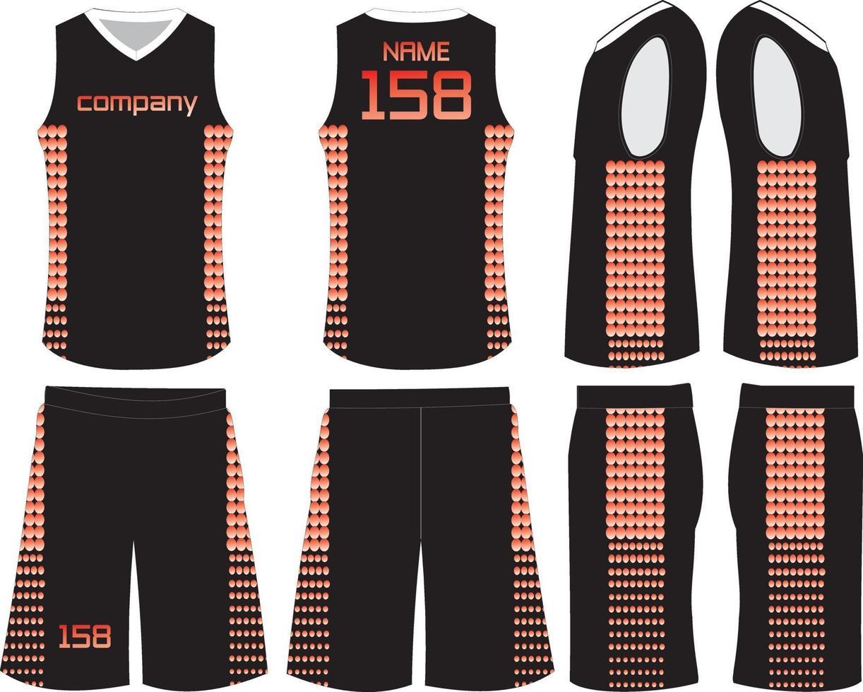 unifomrs-jersey en -short voor damesbasketbal vector