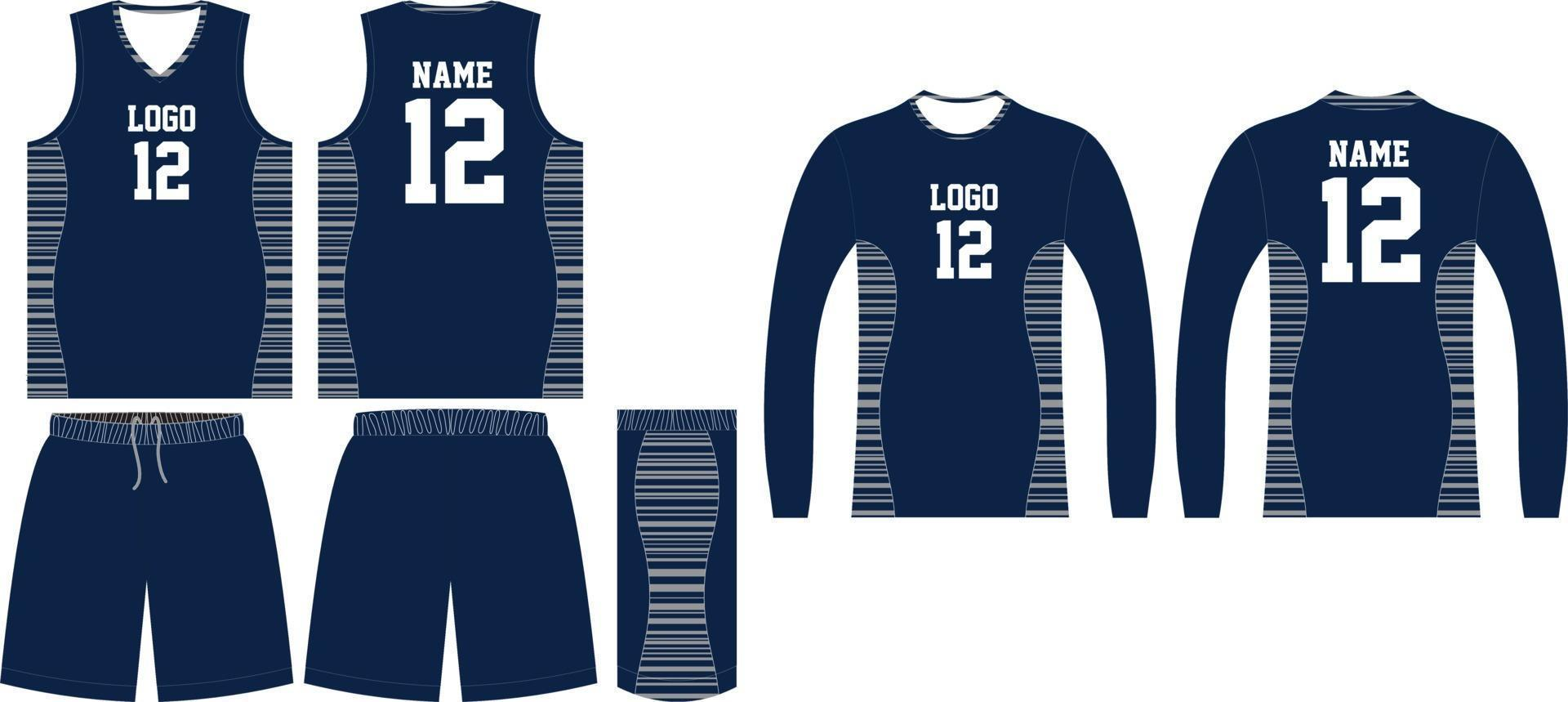 custom design basketbal uniformen sport jersey shorts vector