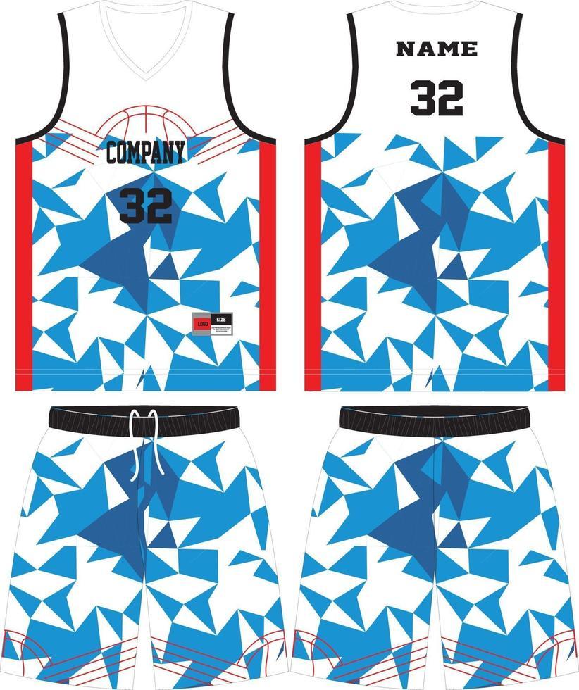 basketbal jersey set sjabloon vector