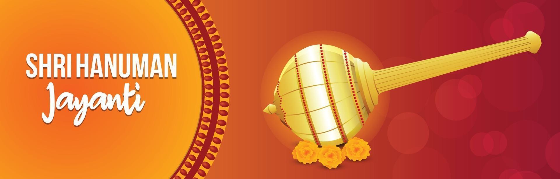 shri hanuman jayanti banner of koptekst vector