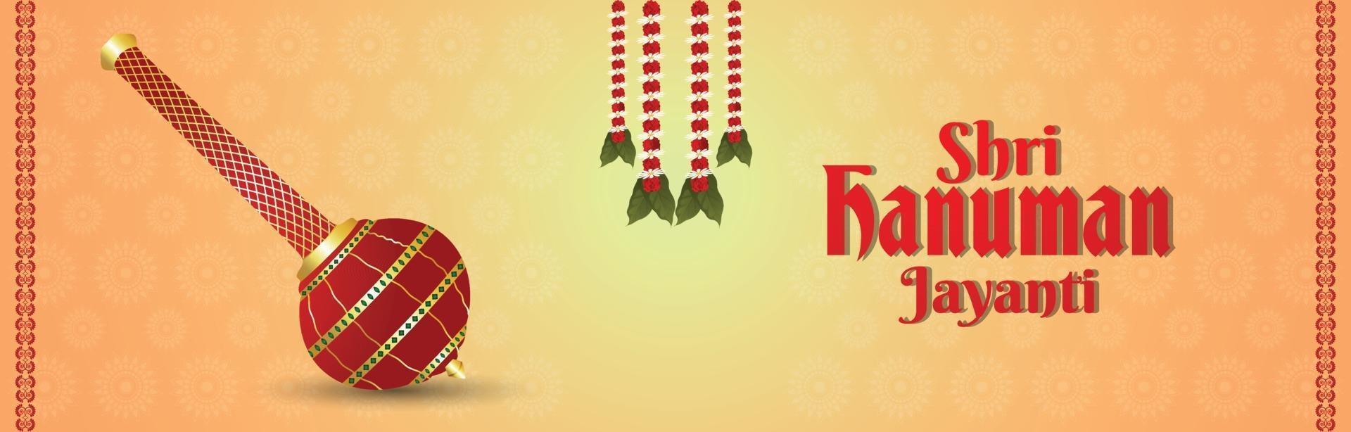 hanuman jayanti banner of koptekst vector