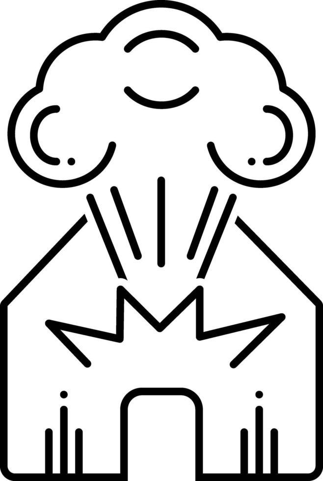 lijn pictogram voor explosie vector