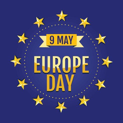 Happy Europe Day-sjabloon vector