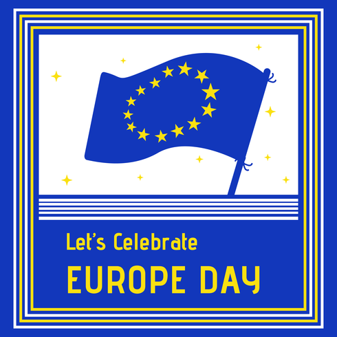 Europa dag viering achtergrond vector