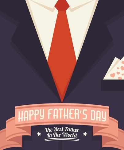 Happy Fathers Day Illustratie vector