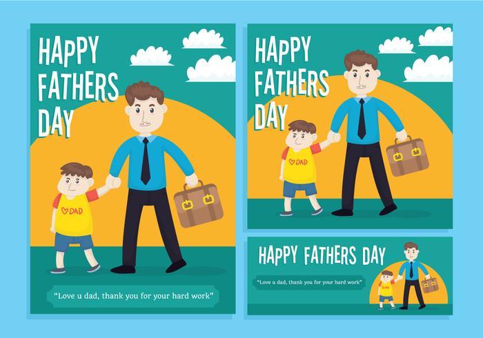 Gelukkig vaders dag vector