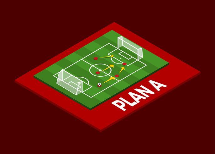 Isometrische Soccer Formation Vector