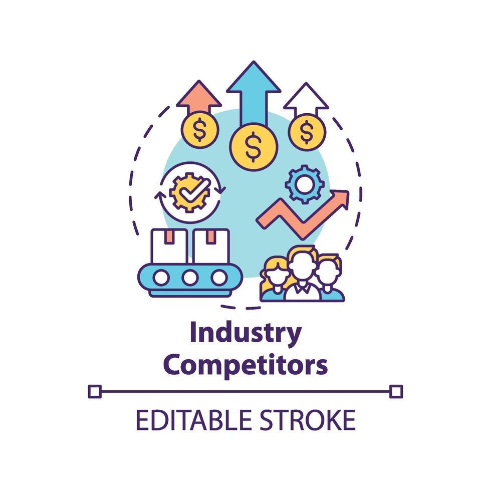 industrie concurrenten concept pictogram vector
