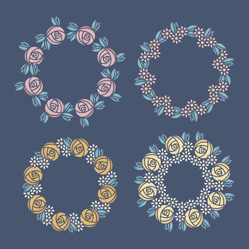 Vector bloemenkransen