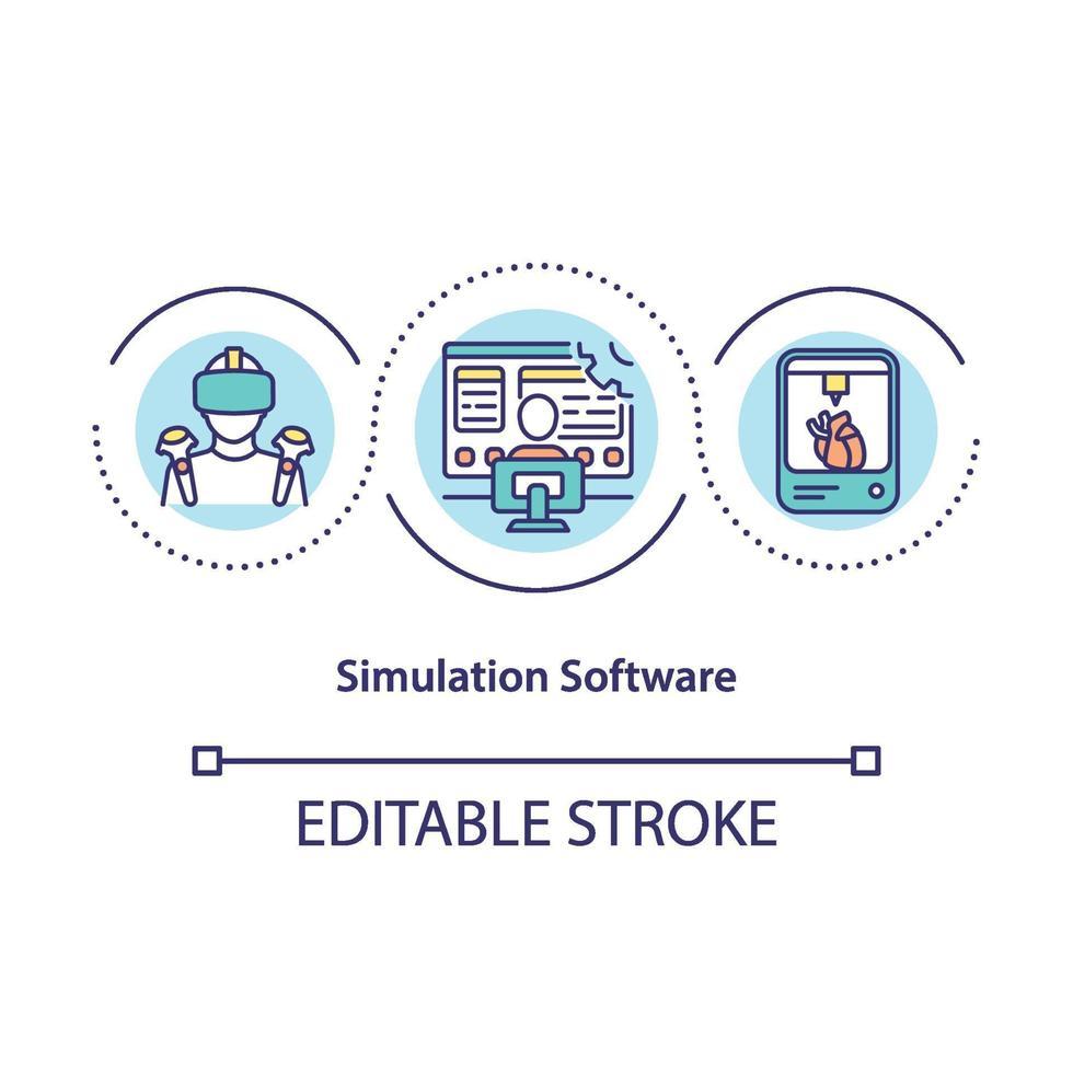 simulatie software concept pictogram vector