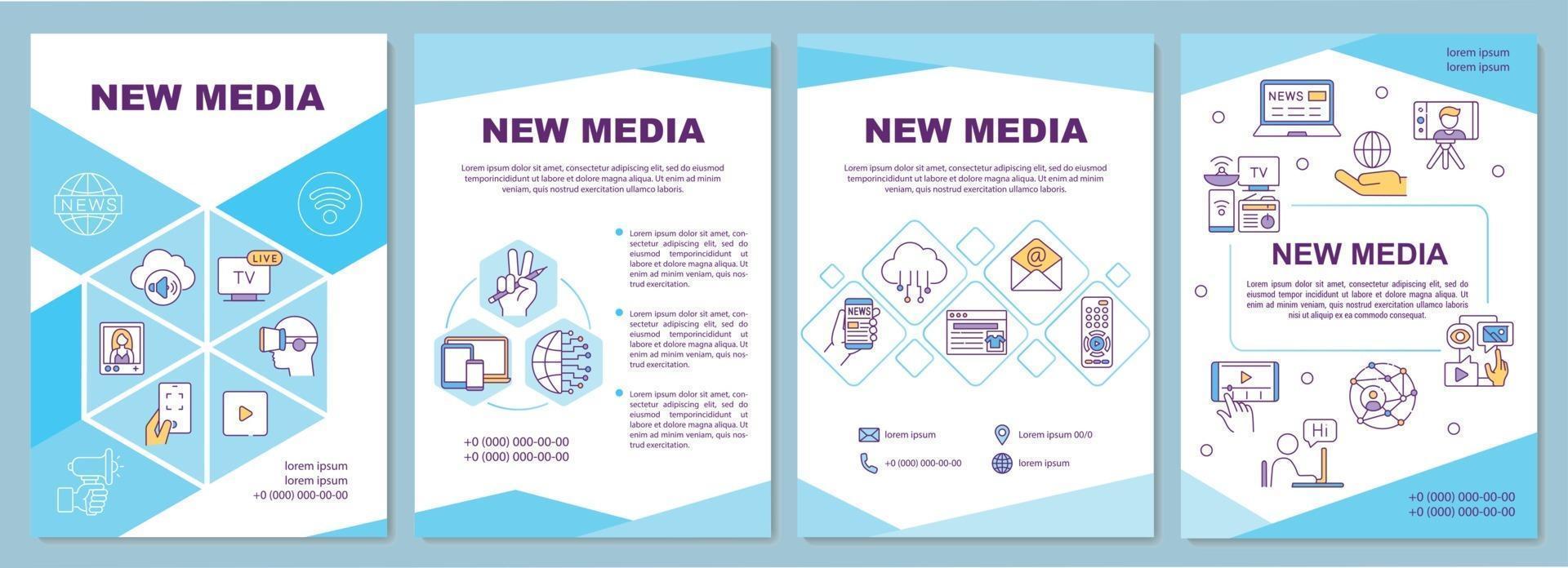 nieuwe media brochure sjabloon vector