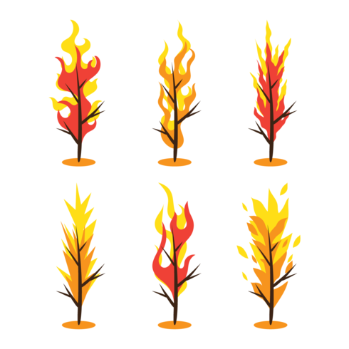 brandende struik vector