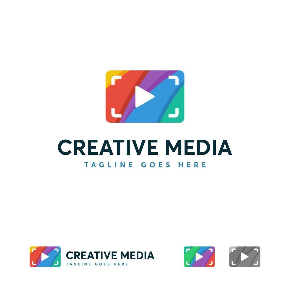 creatieve media logo ontwerpen concept vector, kleurrijke spel logo sjabloon concept vector