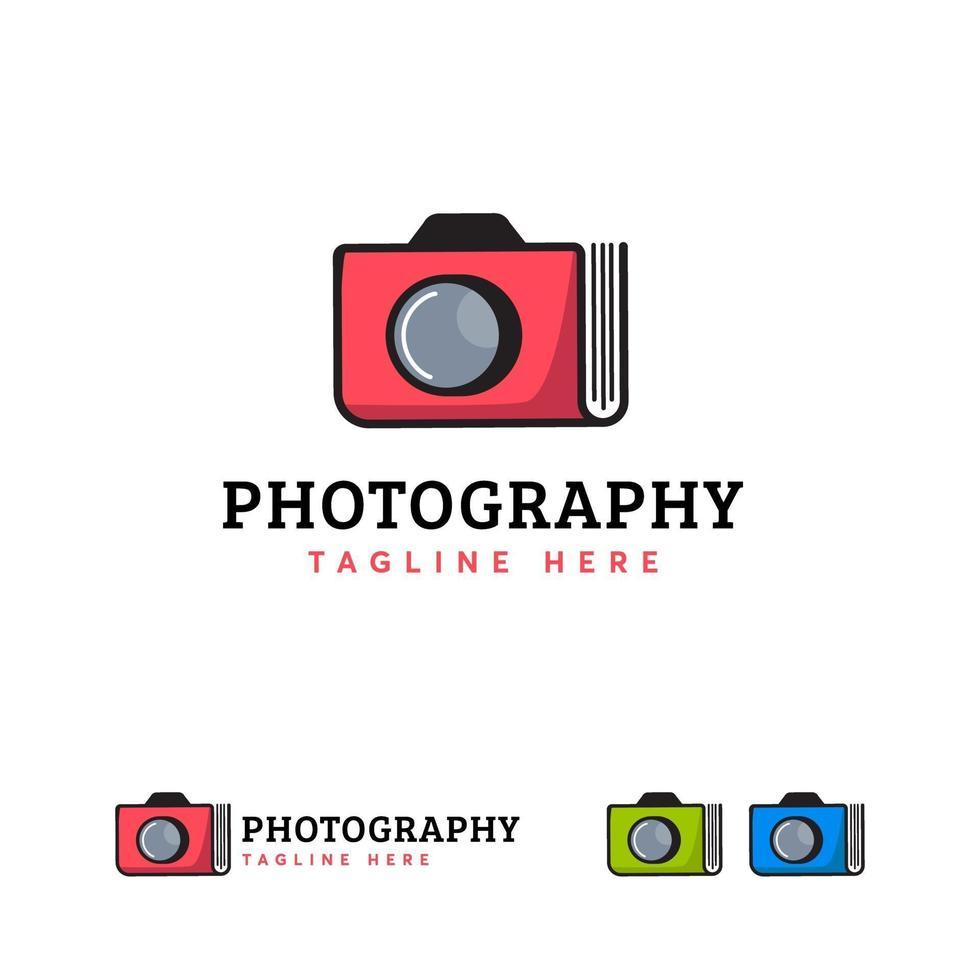 fotoboek album logo ontwerpen vector, fotografie logo ontwerpen concept vector