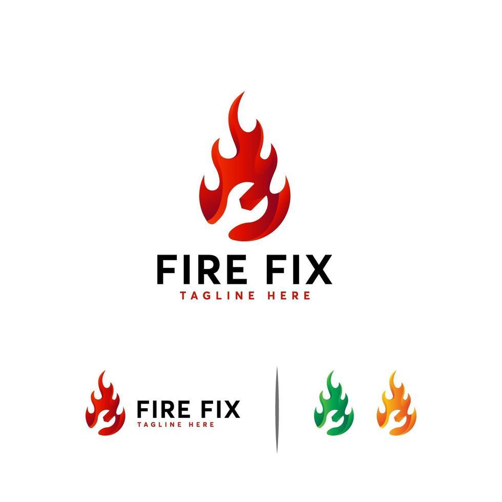 brand fix logo ontwerpen concept vector, snelle service logo sjabloon vector