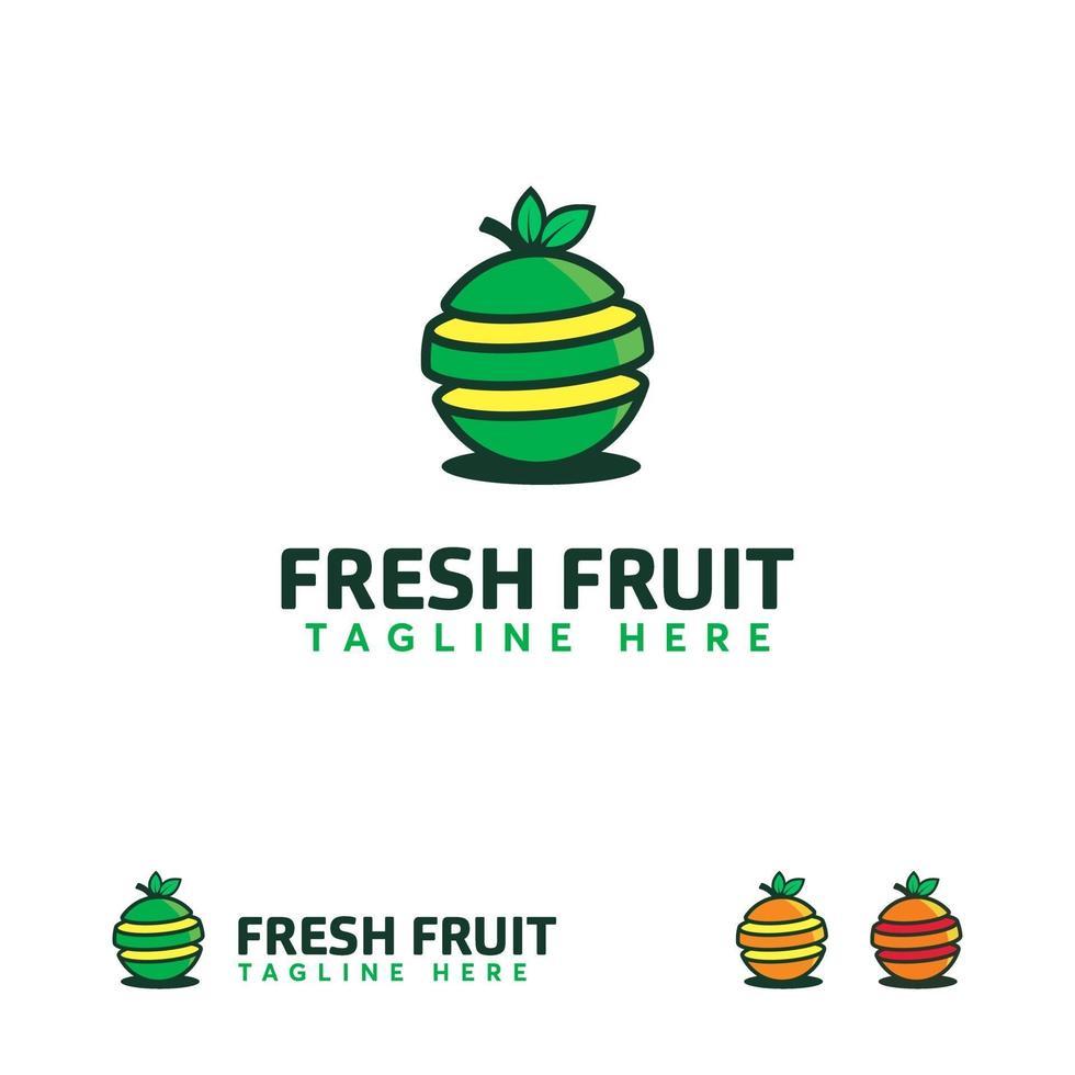 vers fruit logo ontwerpen vector, sap logo sjabloon vector