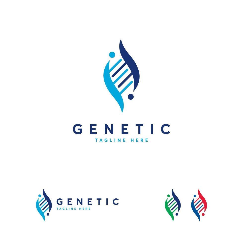 genetische logo ontwerpen concept vector, dna logo ontwerpen concept vector