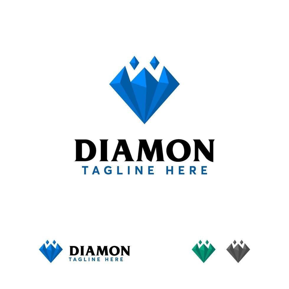 diamant logo ontwerpen concept vector, sieraden logo sjabloon vector